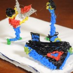 Pizza delivery guy proposing to a spaceship captain by Jamie Cohen-KIraly with her 3D-pen
